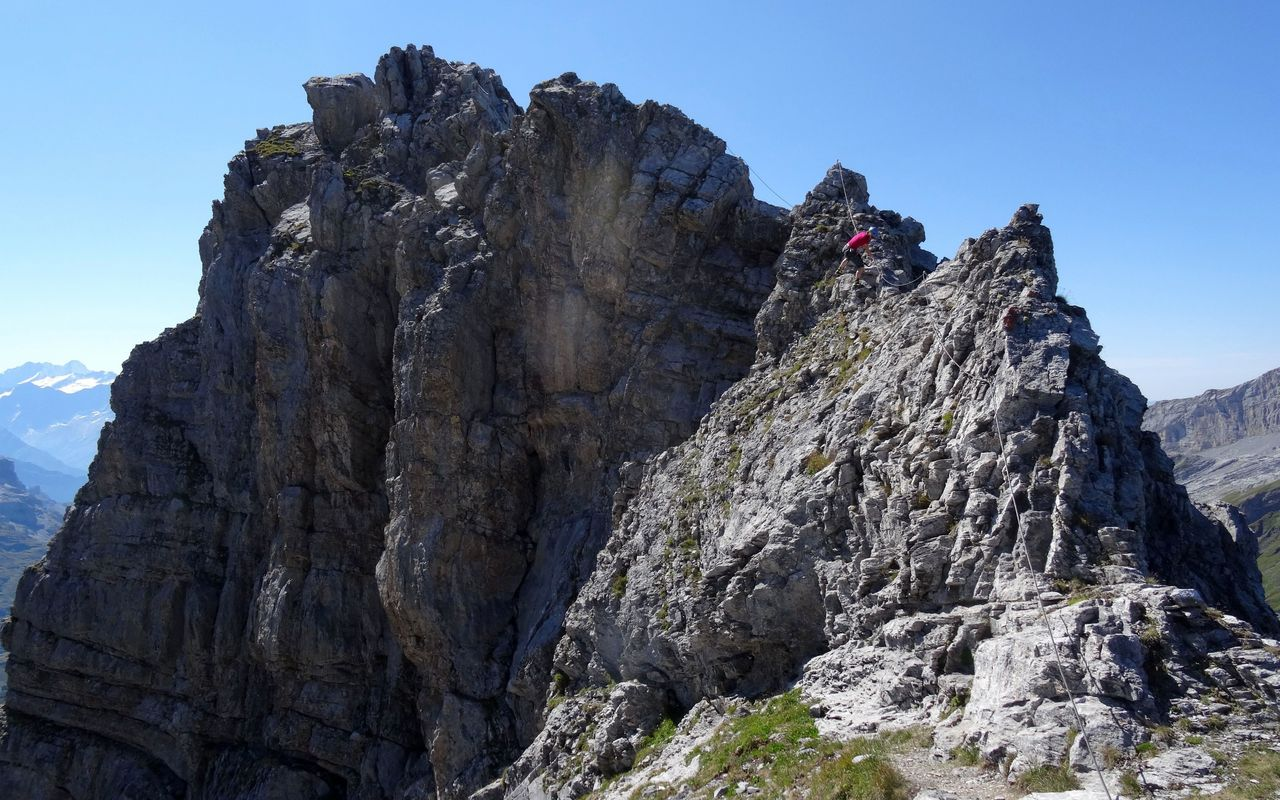 Klettersteig Jochpass : Graustock klettersteig klettersteige nw