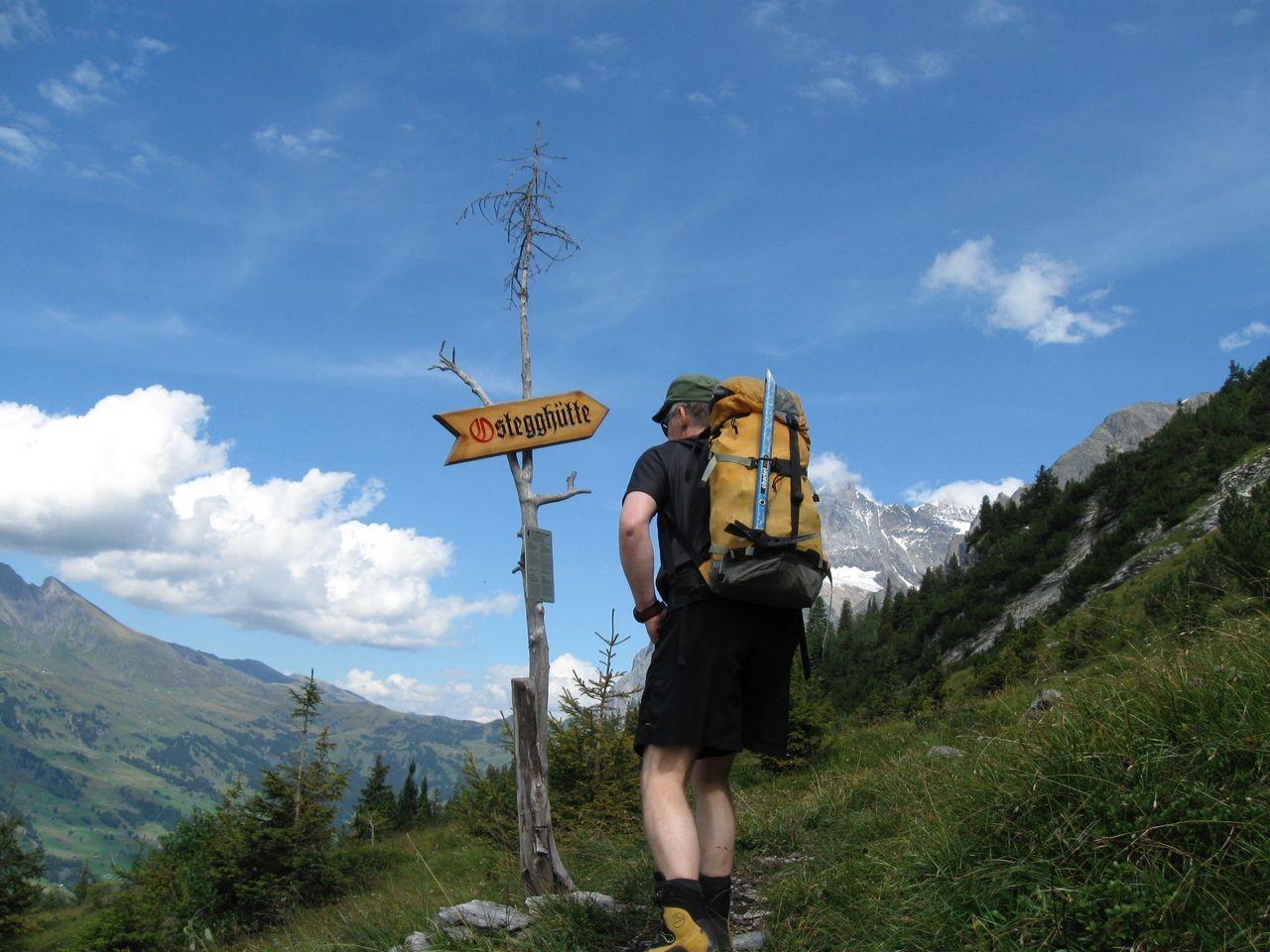 Klettersteig Ostegghütte : Zustieg klettersteig eiger ostegg berg und alpinwandern