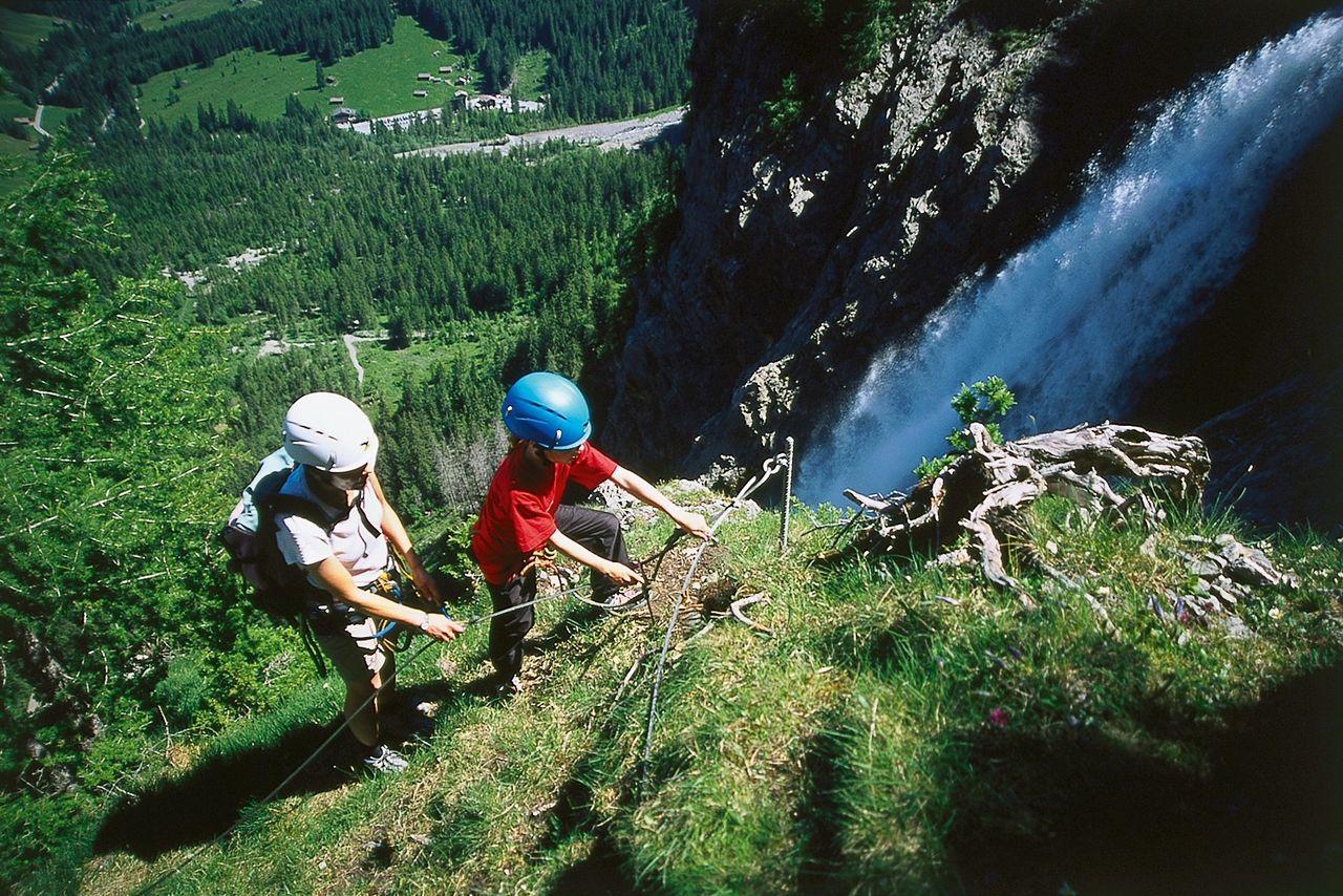 Klettersteig Chäligang : Engstligenalp klettersteige schweizer alpen club sac