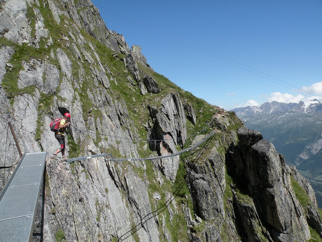 Klettersteig Eggishorn : Klettersteig eggishorn via ferrata swiss alpine