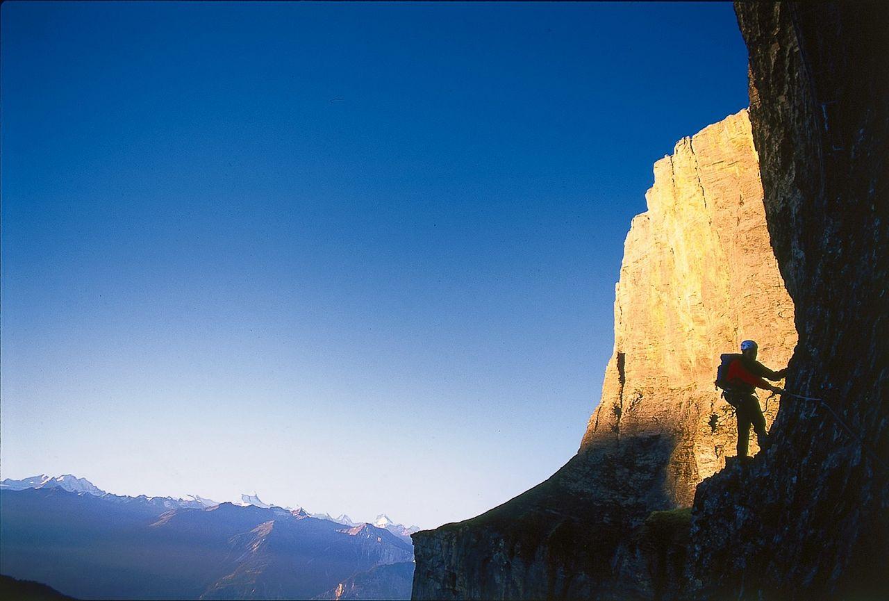 Klettersteig Leukerbad : Via ferrata leukerbad gemmi daubenhorn