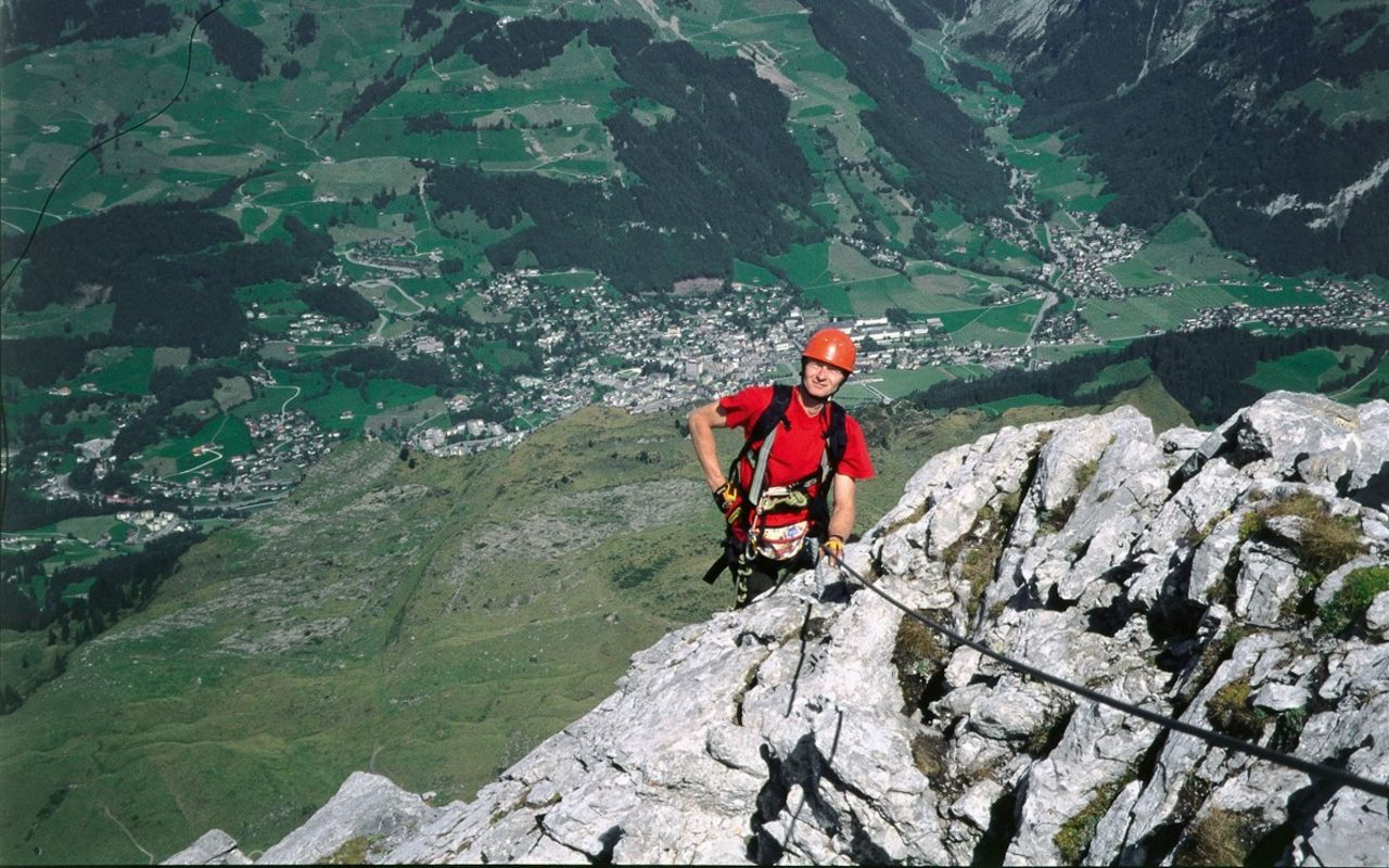 Klettersteig Engelberg : Graustock klettersteig klettersteige nw